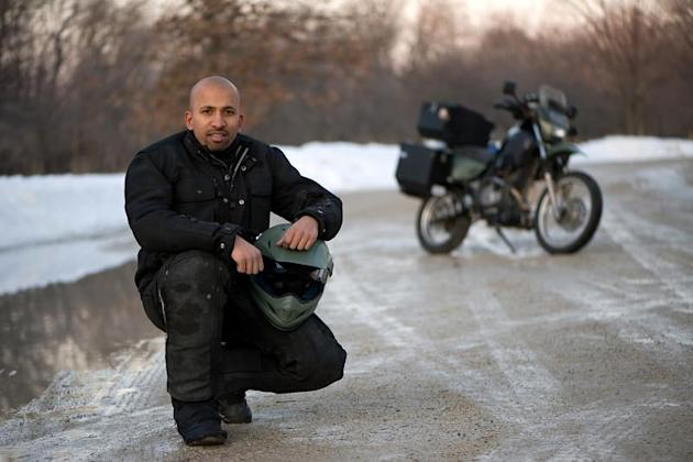 Born in India and raised in Africa, JAY KANNAIYAN has been moving from a young age. After completing the duties of college, getting a job and buying a house, he threw it all away and got on a motorcycle. He sold everything except all that fit on the back of his Suzuki DR650 and left Chicago in March 2010 to ride back to India via South America and Africa. He is halfway through his journey and is now in Kenya with plans to circumnavigate Africa, cut across the Middle East and get down to India by end 2013. His mechanical knowledge shows through during breakdowns and his Indian character is reinforced when he prepares chicken curries for his hosts. Follow his journey at JammingGlobal