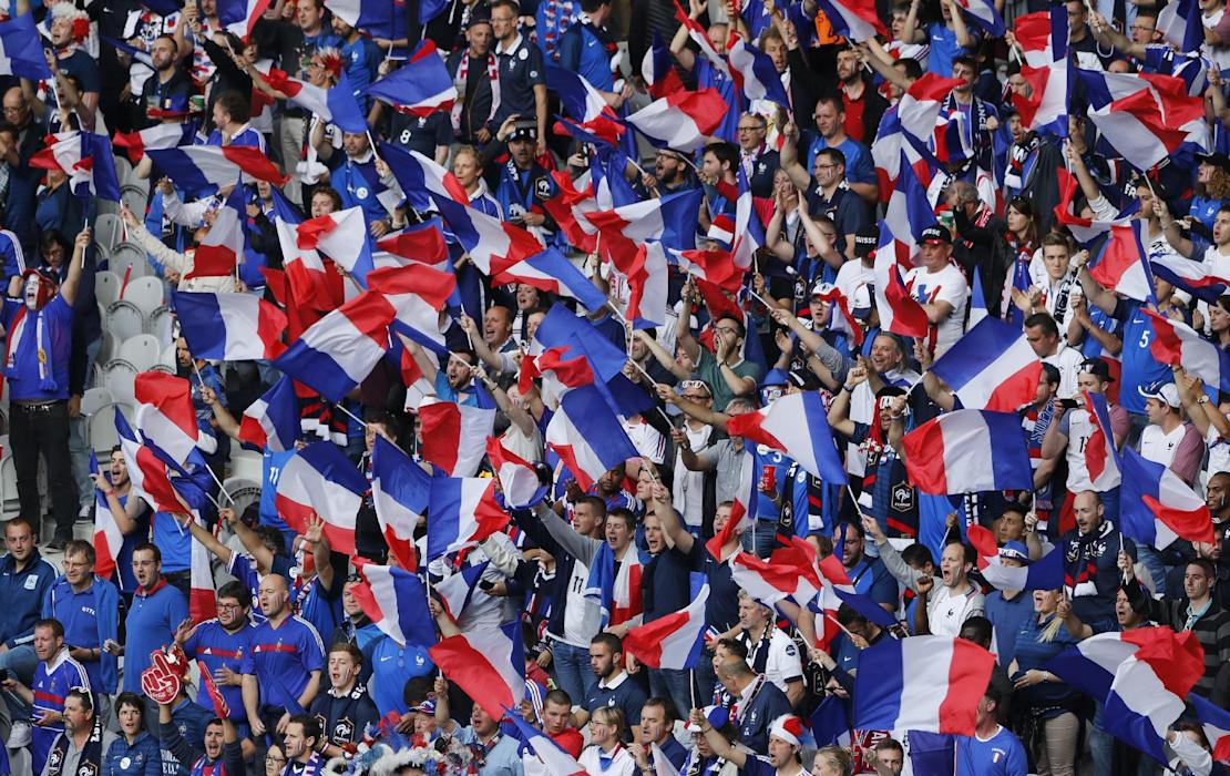 France fans before the game
