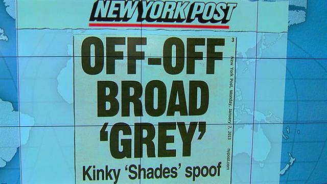 "Headlines: Kinky ""Shades"" spoof off Broadway"