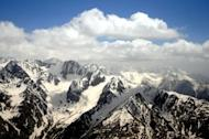 View of The Hindu Kush mountain range near Badakhshan. More than 70 people are feared to have been killed in Afghanistan after a landslide triggered by a double earthquake buried homes under earth and rock, officials said