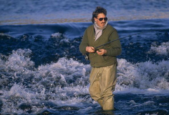 SCOTLAND - UNDATED:  Ian Botham fishing in Scotland. (Photo by Getty Images)