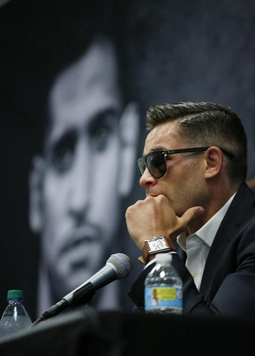 BOX: Chris Algieri during a press conference after the fight