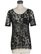 BB Dakota black lace top, $70.00.