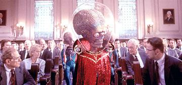 A scene from Warner Bros. Pictures' Mars Attacks