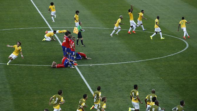 World Cup - FIFA bans Brazil media chief for three matches for half-time bust-up