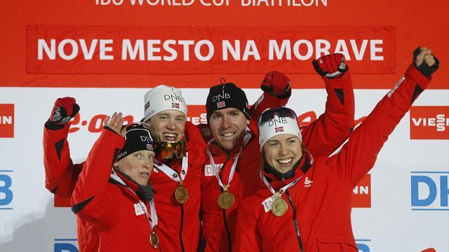 World Championships - Norway romp to victory again in mixed relay
