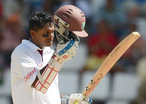 Chanderpaul became only the second West Indian to reach the magic figure