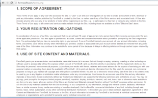 Five Essential Tips for Creating Your Website's Terms of Service image 4 formswift screenshot 600x372