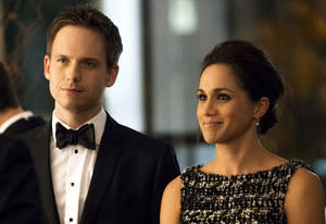 Patrick J. Adams, Meghan Markle | Photo Credits: Christos Kalohoridis/USA Network