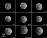 Photographer Rg Ferriols created this mosaic of the penumbral lunar eclipse of Nov. 28, 2012, from the Philippines to showcase the event's phases.