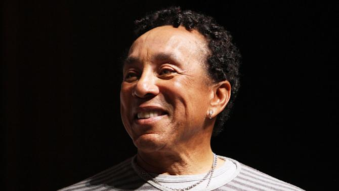Singer Smokey Robinson speaks to students at Duke Ellington School of the Arts in Washington, Friday, March 2, 2012. Robinson will perform at a benefit concert for the school on Saturday at the Kennedy Center. (AP Photo/Jacquelyn Martin)