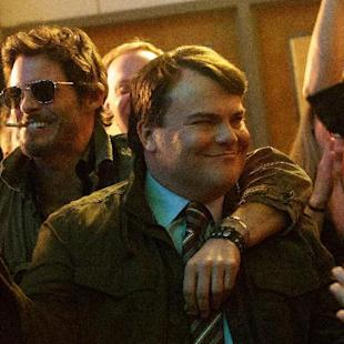 """This image released by IFC Films shows James Marsden, left, and Jack Black in a scene from """"The D Train."""" (Hilary Bronwyn Gayle/IFC Films via AP)"""