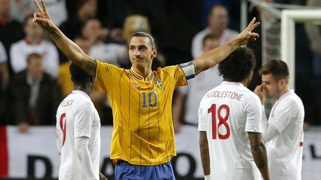 World Football - Four-goal Ibrahimovic upstages centurion Gerrard's England