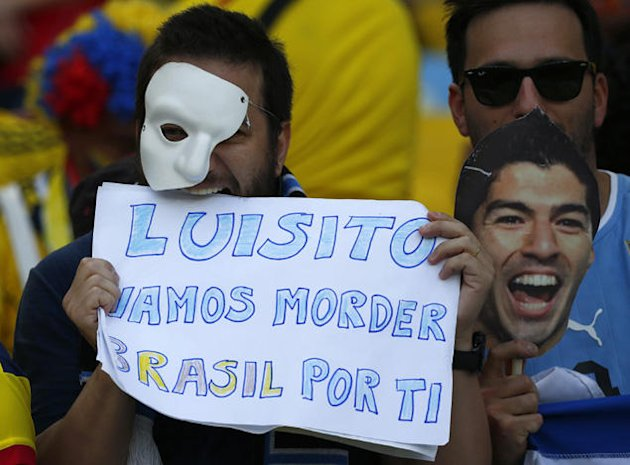 Uruguay fans proud of their very own monster, Suarez