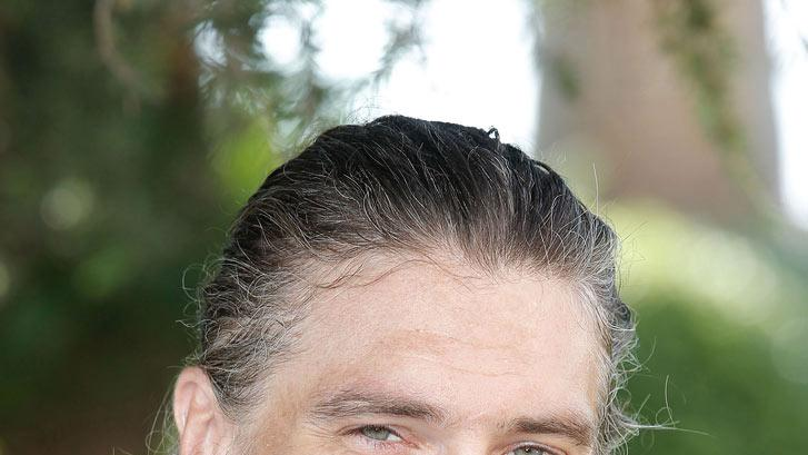 "Anson Mount posing for ""Hell On Wheels"" photocall as part of MIPCOM 2011 at Hotel Majestic on October 3, 2011 in Cannes, France."