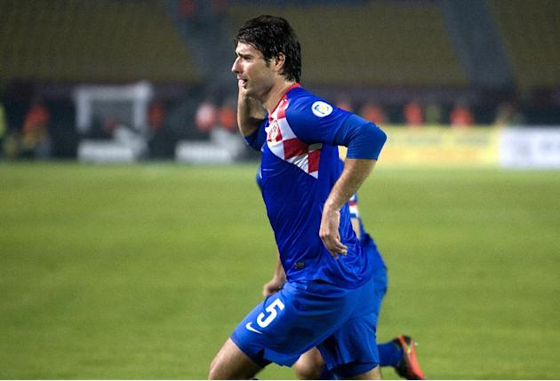 Vedran Corluka, pictured on October 12, 2012, scored as Lokomotiv Moscow missed the chance to go level on points at the top of the Russian Premier League after being held 1-1 by Dynamo
