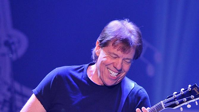 """Musician George Thorogood performs at """"Play It Forward: A Celebration of Music's Evolution and Influencers"""" at the Grammy Foundation's 15th Annual Music Preservation Project, Thursday, Feb. 7, 2013, in Los Angeles. (Photo by Vince Bucci/Invision/AP)"""