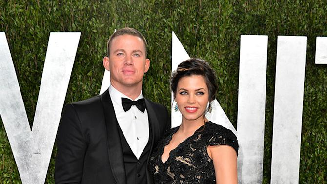 2013 Vanity Fair Oscar Party Hosted By Graydon Carter - Arrivals: Channing Tatum and Jenna Dewan-Tatum