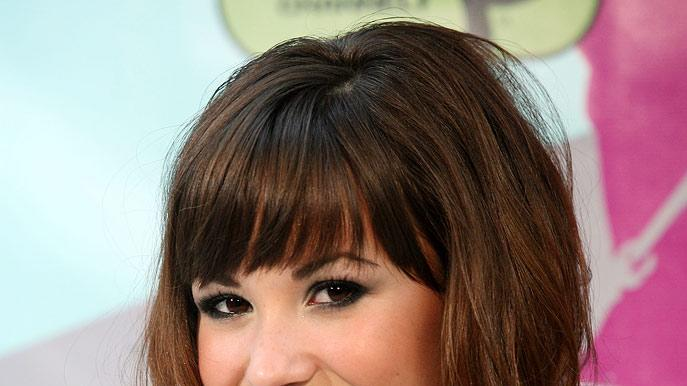 "Demi Lovato attends the premiere of ""Camp Rock"" on June 11, 2008 in New York."