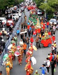 Joyful celebrations: The parade added other interesting cultural celebrations in Surakarta's long-list. (