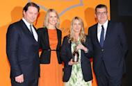 Three cheers for Anya Hindmarch who has just scooped The Veuve Clicquot Business Woman Award 2012. The British designer of highly-covetable accessories beat finalists Helena Morrissey of Newton Investment Management and Ruth Rogers, founder and chef, of the hugely successful River Café in London. Hurrah!