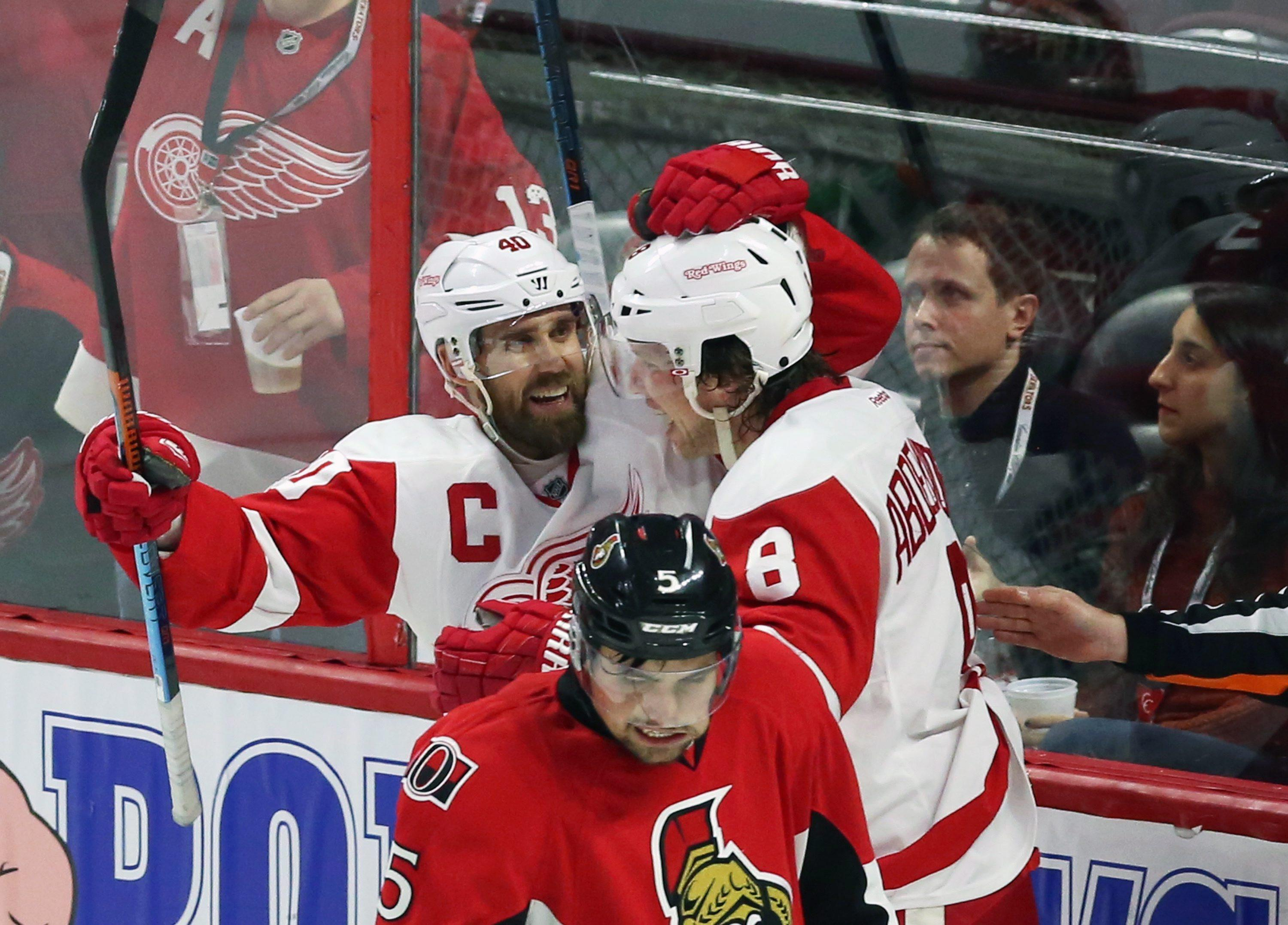Nyquist scores in OT to lead Red Wings over Senators 3-2