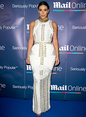 Kim Kardashian Wears Curve-Hugging White Rope Dress …