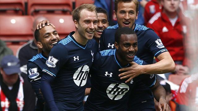 Premier League - Rose scores as Spurs see off ten man Stoke