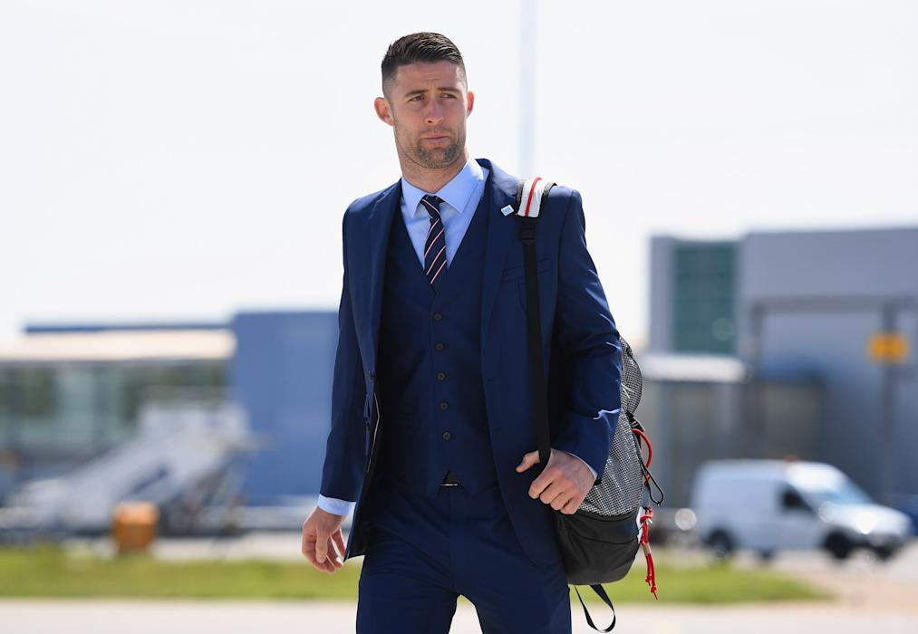England's Gary Cahill departs for France and UEFA Euro 2016