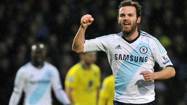 Premier League - Mata fires Chelsea past Norwich