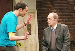 Jim Parsons and Bob Newhart | Photo Credits: Michael Yarish/Warner Bros.