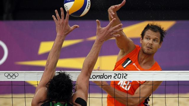 Olympic Games - Dutch humble Germans in Olympic men's beach volley