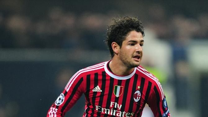 Alexandre Pato netted AC Milan's equaliser against Malaga in Group C