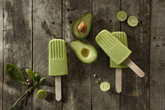 Avocado ice lolly