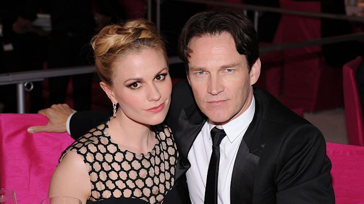 21st Annual Elton John AIDS Foundation Academy Awards Viewing Party - Inside: Anna Paquin and Stephen Moyer