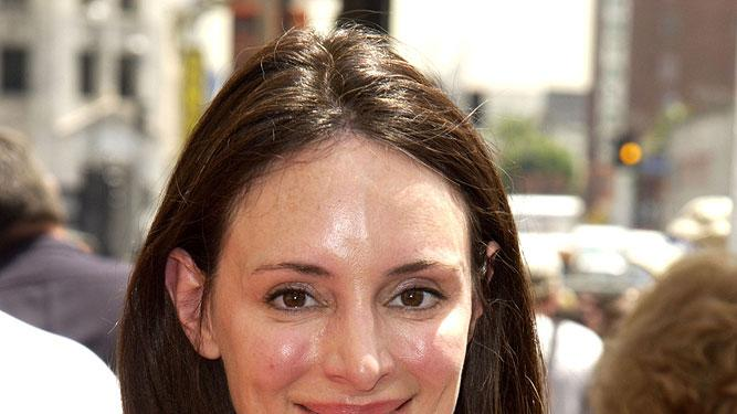Madeleine Stowe at the Hollywood Walk of Fame where Kevin Costner is honored with a Star for His Achievements in Film.