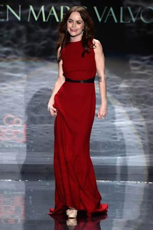 Taryn Manning walks the runway at Go Red For Women - The Heart Truth Red Dress Collection 2014 Show at The Theatre at Lincoln Center on February 6, 2014 -- Getty Images