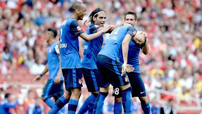 Friendly match - Falcao returns as Monaco and Valencia draw in Emirates Cup opener