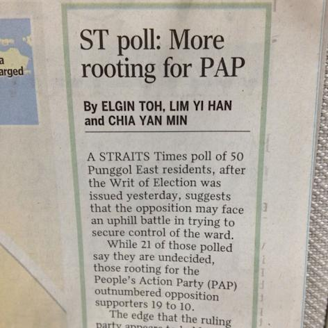 The ELD says police are looking into the snap by-election poll result published by Straits Times. (Yahoo! photo)