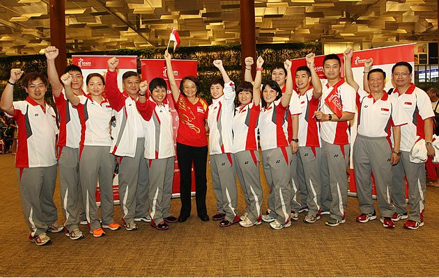The table tennis teams departed for London last Friday without speaking to the media (STTA)