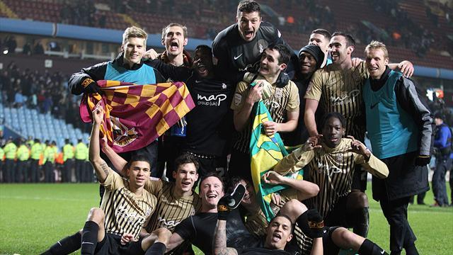 League Cup - Bradford celebrate historic Cup shock