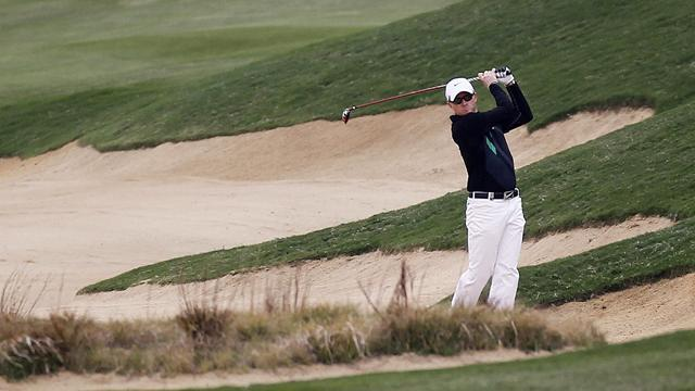 Golf - Dyson leads Tshwane Open after play suspended