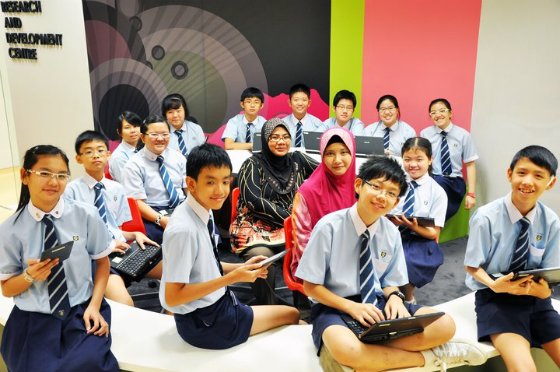 Ngee Ann Secondary School goes hi-tech. (Photo from Xavier Lur)