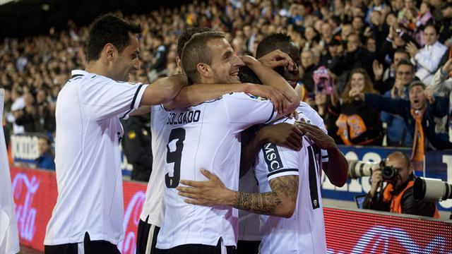 Liga - Valencia hit Malaga for five, Granada and Real Valladolid draw