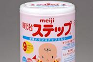 """This handout picture, released from Japan's food maker Meiji Holdings shows a canned baby formula """"Meiji Step"""". Radiation contamination has been found in a leading brand of Japanese baby formula, most likely fallout from the country's crippled nuclear plant"""
