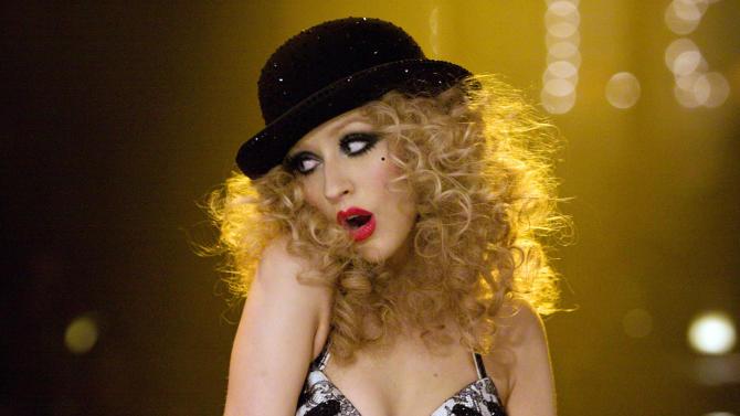 """Christina Aguilera in """"Burlesque"""""""