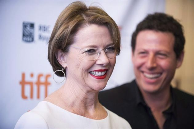 "Actress Annette Bening and Director Arie Posin arrive at the premiere of ""The Face of Love"" on day 8 of the 2013 Toronto International Film Festival on Thursday, Sept. 12, 2013, in Toronto."