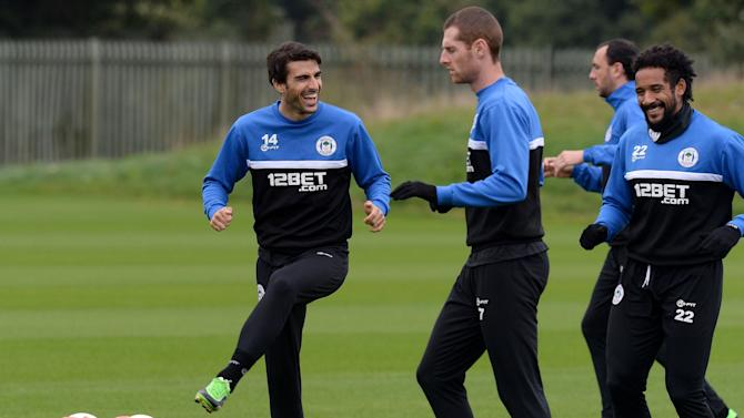 Soccer - UEFA Europa League - Group D - Wigan Athletic v NK Maribor - Wigan Athletic Training Session - Christopher Park Training Ground