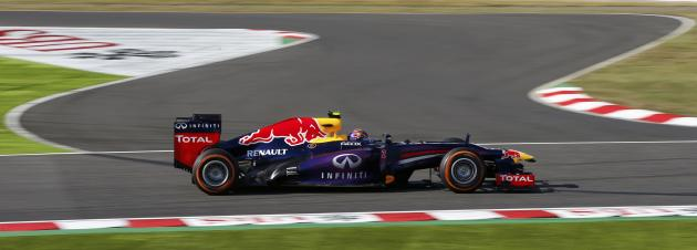 Red Bull Formula One driver Webber of Australia drives during the qualifying session of the Japanese F1 Grand Prix at the Suzuka circuit