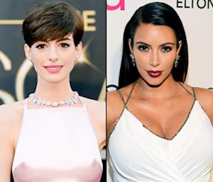 """Anne Hathaway Threw """"a Fit"""" Over Amanda Seyfried's Oscar Dress, Kim Kardashian Models Her """"Favorite Pregnancy Look"""": Today's Top Stories"""
